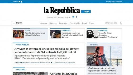 La nuova homepage di il nostro sito cambia for Repubblica homepage it