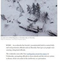 Valanga  su hotel in Abruzzo, la notizia sui siti stranieri