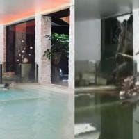 L'hotel Rigopiano prima e dopo la valanga