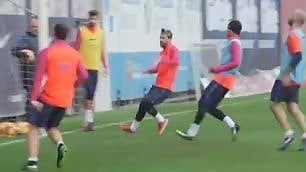 Messi incanta in allenamento
