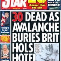 Valanga su hotel, le prime pagine dei giornali internazionali