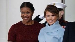 Due first lady agli antipodi Diverse anche nel look