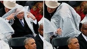 Lo show di George W. Bush  La 'battaglia' con la cerata