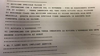 """Inchiesta su Alitalia, la compagnia censura lEspresso: """"Non sia distribuito ai passeggeri"""""""