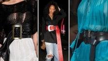 Copia il look: la maxi cintura di Rihanna