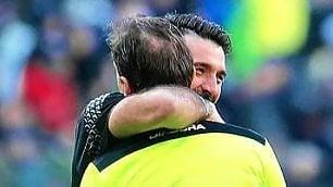 Gigi Buffon e Paolo Tagliavento    un abbraccio tra le polemiche