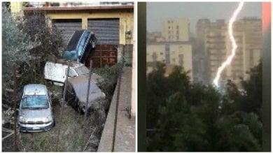 Nubifragio su Sicilia e Calabria   meteo     Morto un anziano  nel Palermitano    foto
