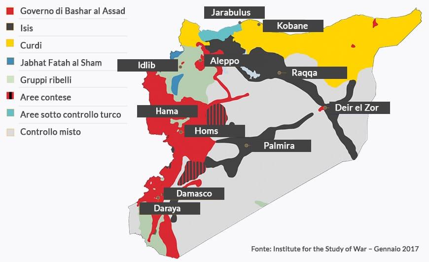 La mappa della Siria oggi: i numeri, le fazioni, le alleanze, i luoghi chiave