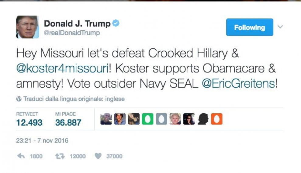 Donald Trump, 10 insulti su Twitter