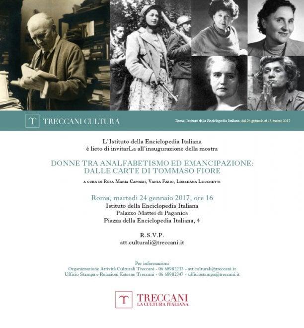 Treccani, una mostra sulla storia d'Italia costruita dalle donne