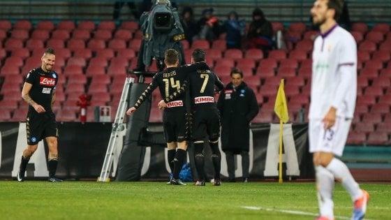 Napoli-Fiorentina 1-0, Callejon lancia gli azzurri in semifinale