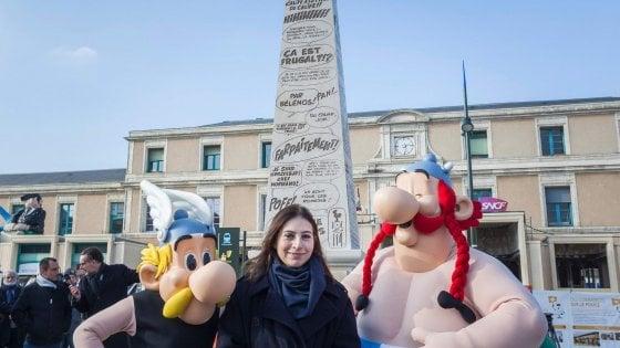 Un obelisco dedicato al papà di Asterix al Festival del fumetto di Angouleme