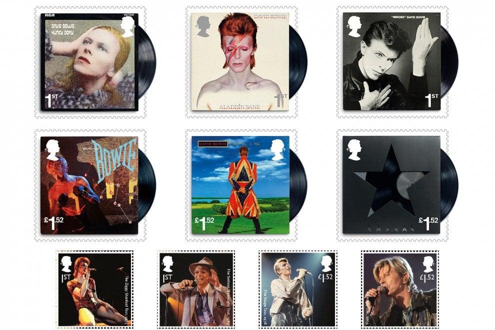 Gran Bretagna, il tributo della Royal Mail: 10 francobolli dedicati a David Bowie