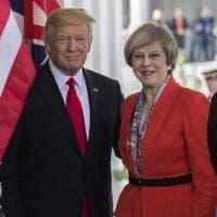 Theresa May con Trump alla Casa Bianca. Ma prima ad Arlington per l'omaggio al milite ignoto