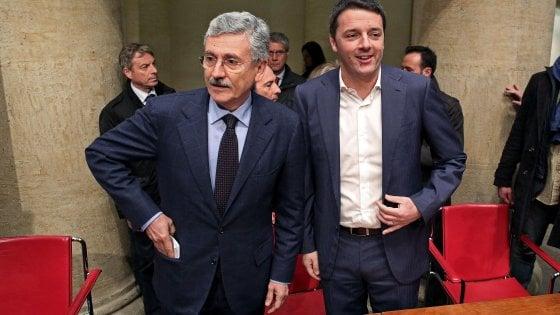 Pd, la corsa al voto rianima la scissione: D'Alema all'attacco