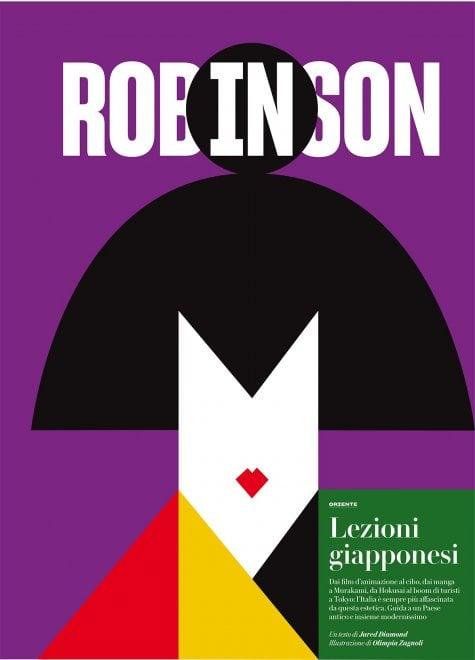 Robinson, quattro copertine diverse dedicate al Giappone