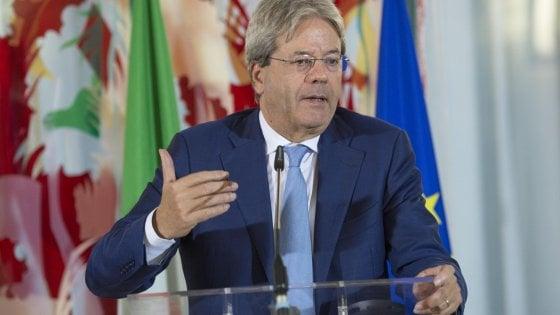 """Trump, Gentiloni: """"Italia ancorata ai propri valori. Pluralità e società aperta pilastri dell'Ue"""""""