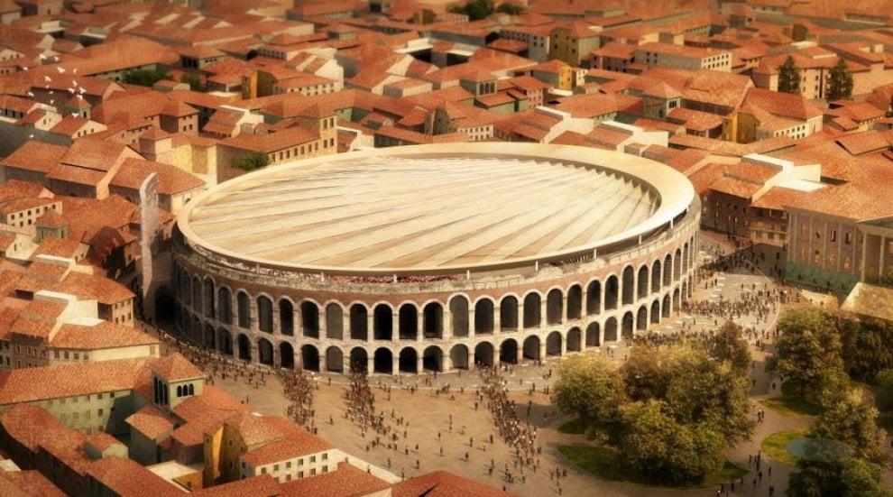 Copertura Arena Di Verona I Progetti Vincitori Del