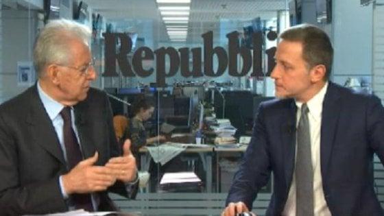 """Monti: """"Con Trump in gioco la governance della globalizzazione. Ma nostri leader distruggono credibilità Ue"""""""