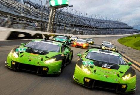24 Ore di Daytona, show Lamborghini
