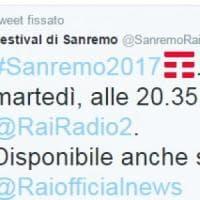Twitter vende l'hashtag di Sanremo: il logo di Tim fa discutere