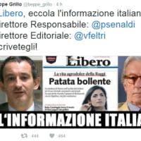 Libero e il titolo sessista su Raggi: da Grillo a Boldrini i tweet di solidarietà