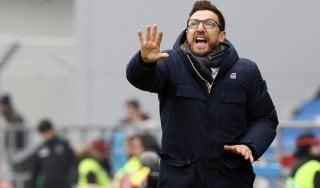 """Sassuolo, Di Francesco: """"Siamo stati un po' ingenui, per il futuro dovrò valutare"""""""