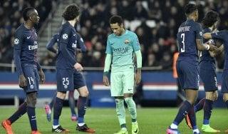 Barcellona umiliato dal Psg, Benfica di misura sul Borussia Dortmund