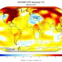 Clima: gennaio 2017 terzo più caldo degli ultimi 137 anni