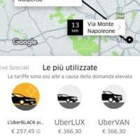 C'è la protesta dei taxi, Uber triplica le tariffe