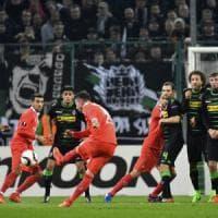 Borussia Moenchengladbach-Fiorentina 0-1: decide una magia di Bernardeschi