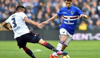Sampdoria-Cagliari 1-1, nel derby degli appagati a Isla risponde Quagliarella