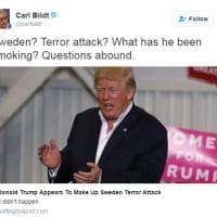 Trump cita inesistente attacco terroristico in Svezia e scatena l'ironia degli svedesi