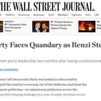 Pd, Renzi si dimette da segretario: la notizia sui siti stranieri