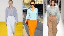 Pantaloni a vita alta e camicia: coppia vincente