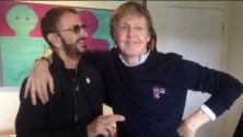 Ringo e Paul di nuovo  in studio insieme