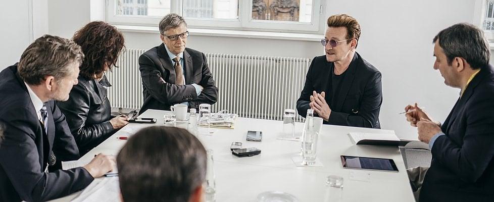 """Gates e Bono a Repubblica: """"Sogniamo un mondo 'in the name of love', nel nome dell'amore"""""""