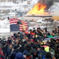 Nord Dakota, la resa dei sioux: sgomberato il campo anti-oleodotto