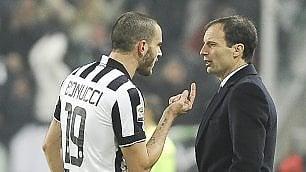 Juventus, e Allegri minacciò: 'Bonucci in tribuna o vado via'  · E. League,  Fiorentina fuori