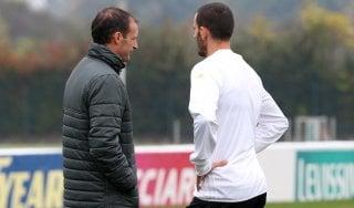 """Juventus, Allegri: """"Caso Bonucci chiuso, torna a disposizione"""""""