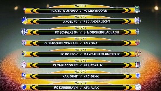 Calendario Europa League Ottavi.Europa League Urna Poco Fortunata Per La Roma Ottavi