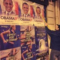 Francia, Obama candidato all'Eliseo: petizione e manifesti sui muri di Parigi