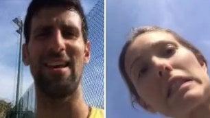 Djokovic, lite con la moglie:  battibecco in diretta su Fb