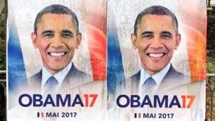 Obama candidato in Francia: petizione e manifesti a Parigi
