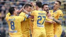 Frosinone batte Verona.  Spal al secondo posto