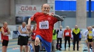 Giuseppe, recordman a 100 anni: il salto più lungo è il suo
