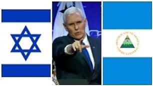 Gaffe del vice presidente Pence Confonde Nicaragua con Israele