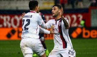 Crotone-Cagliari 1-2: Borriello entra e affonda i calabresi