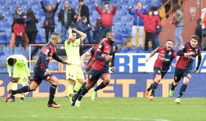 Ntcham, un recupero da ricordare Genoa-Bologna, pari in extremis   foto