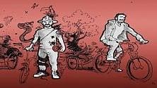 Lo spettacolo sull'ambiente che gira l'Italia in bicicletta